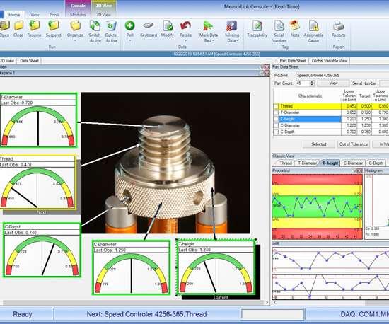 Mitutoyo America Corp.'s MeasurLink 9 software update.