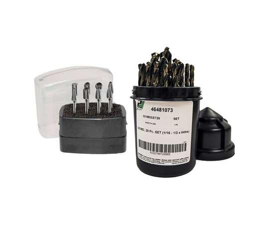 Dormer Pramet's PrecisionLight range of HSS drills and carbide rotary burrs.