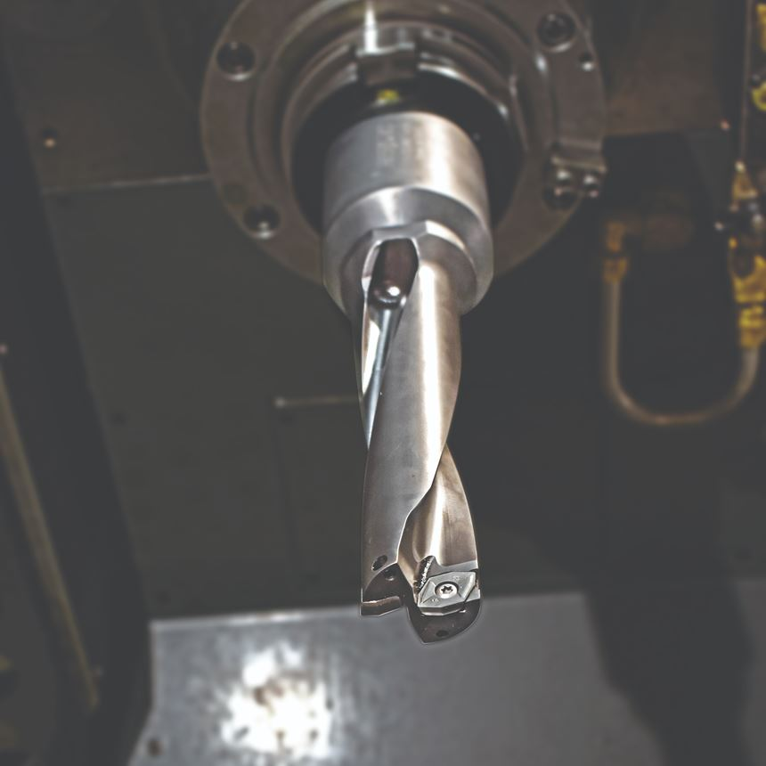 The 4TEX indexable carbide drill.