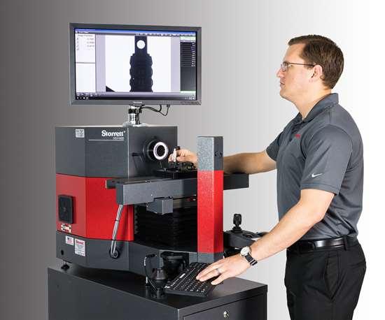 Starrett's HDV300 and HDV400 benchtop digital video comparators.