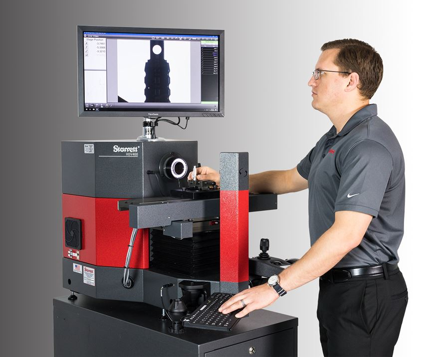 Starrett's HDV300 and HDV400 benchtop digital video comparators.