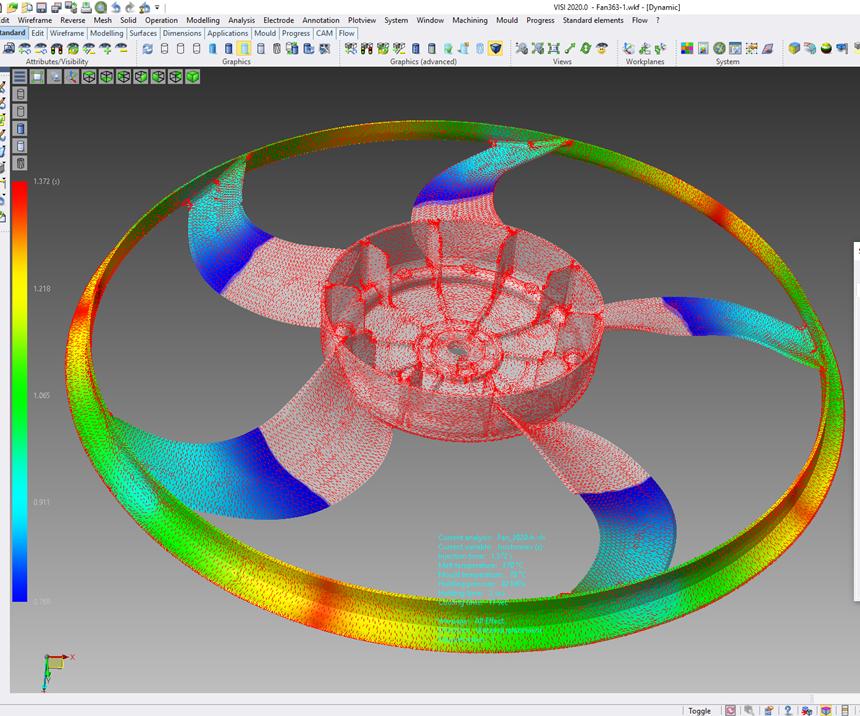 Hexagon'sVisi 2020.0 software.