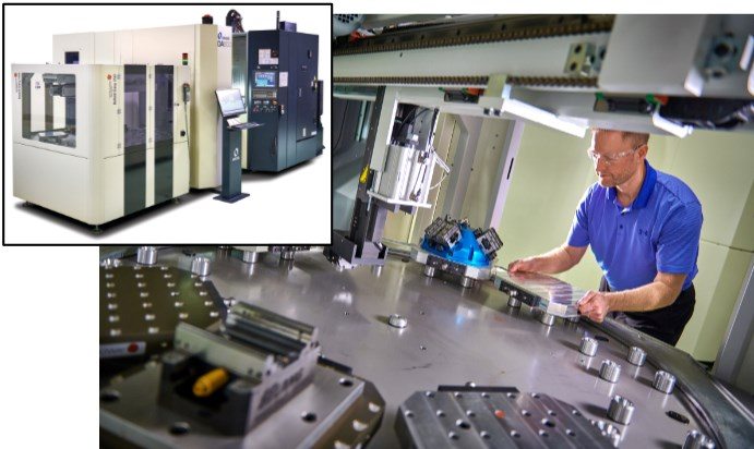 Makino DA300 machining center with Erowa pallet changer