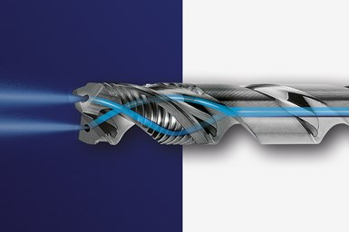 A rendering of the Garant Master Steel Deep, focusing on its unique through cooling system