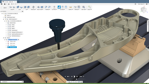 Fusion 360 with PowerMill