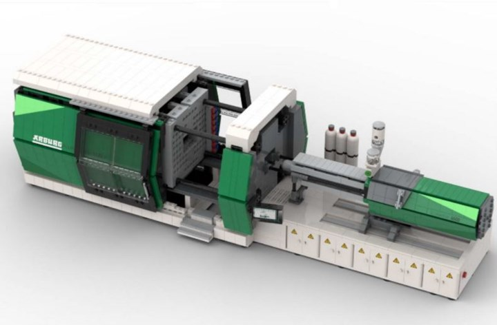 Arburg Injection Molding Machine Made of Legos