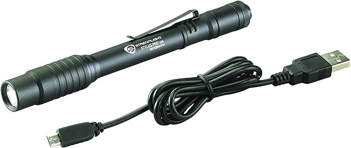 rechargeable penlight with holster