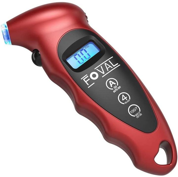FOVAL Digital Tire Pressure Gauge 150 PSI for Car Truck Pickup Bicycle Instant Read