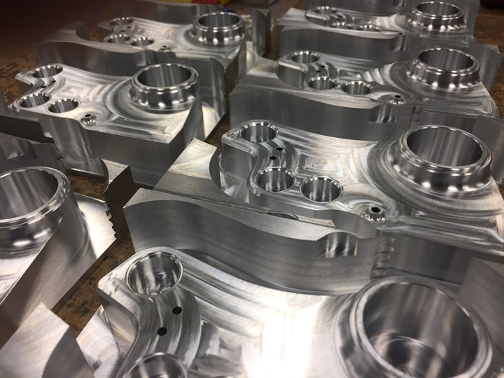 Machined metal part