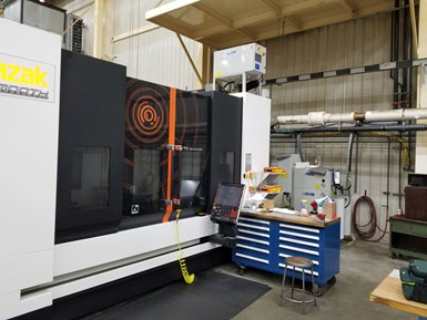 Mazak VMC equipped with high pressure system