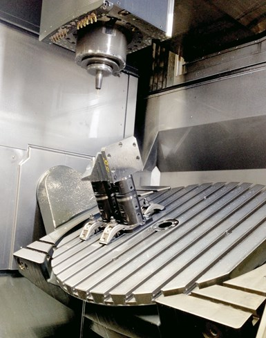 Big Kaiser unilock five-axis workholding stacking system