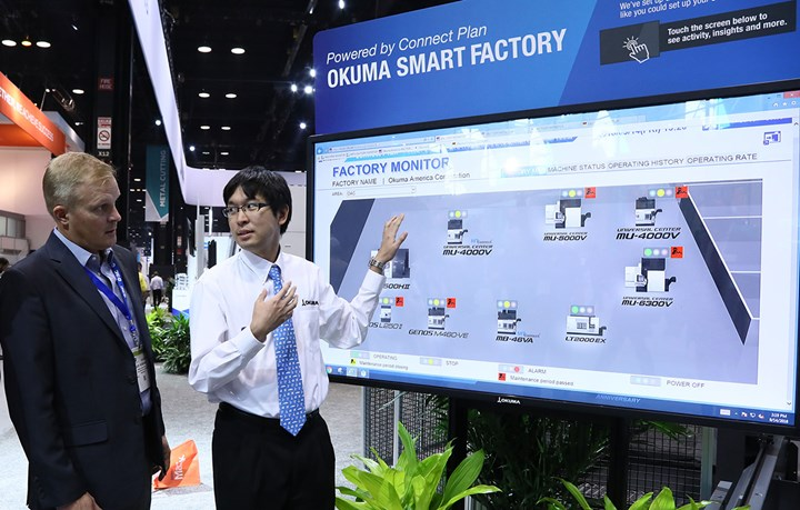 Okuma Smart Factory for factory and machine monitoring for manufacturing