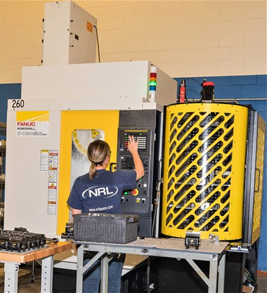 FANUC RoboDrill Plus-K automation system with 36 pallets