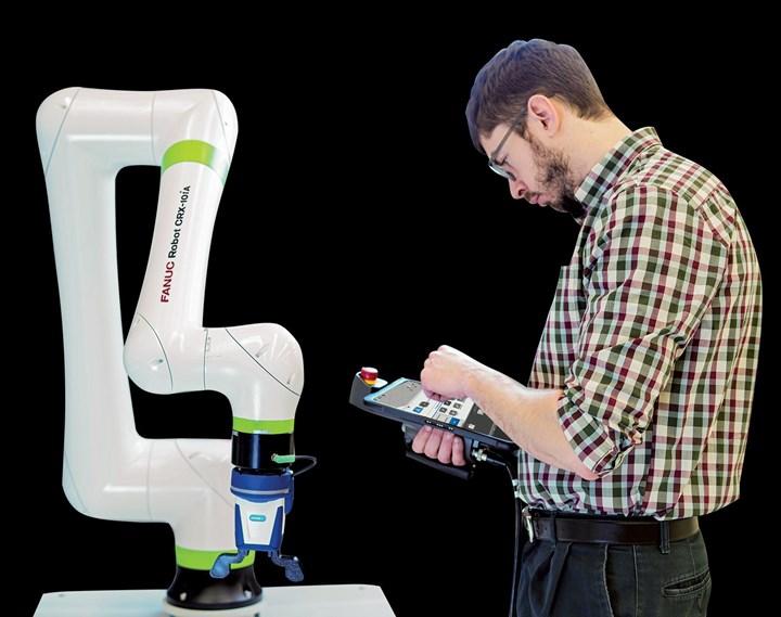 User programs collaborative robot