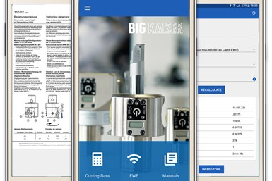 A press shot of Big Kaiser's CNC app