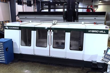 A photo of C.R. Onsrud's Hybrid Mill as installed at Aerospace Fabrications