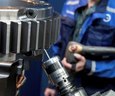 Renishaw RMP60 probing a gear