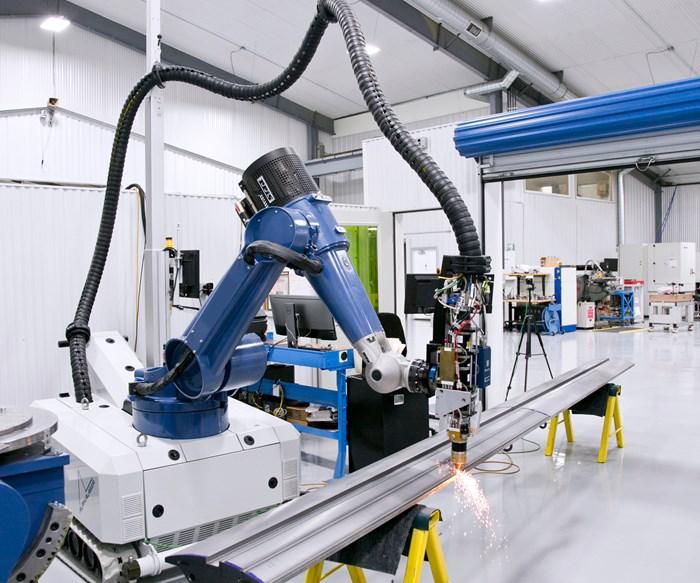 Alpha Laser's AL-Rock Mobile Robot System Performs Laser Hardening, Cladding