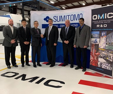 Sumitomo and OMIC R&D representatives