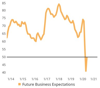 Future Business Expectations graph