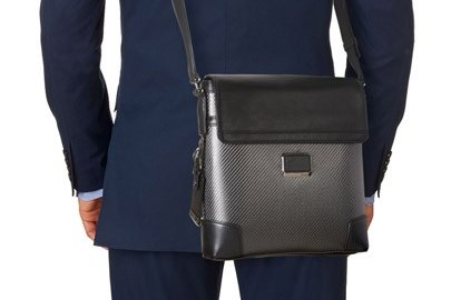 TUMI Carbon Fiber Crossbody Bag - Gifts for Composites Enthusiastss