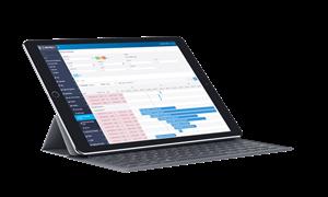 iPad with KeyedIn data running