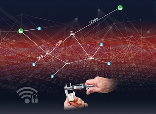 depiction of connecting Industry 4.0 elements across various distances