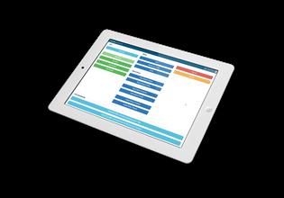 iPad showing KeyedIn software