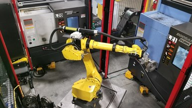 Robot tending cell
