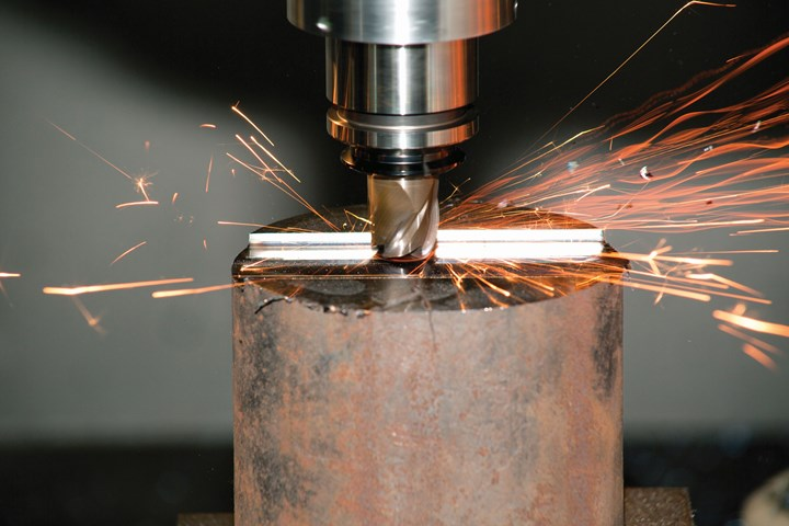 4150 steel machining in action with ceramic end mill