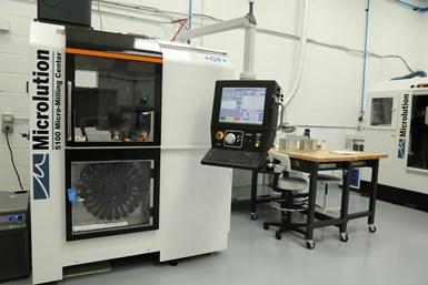 El centro de microfresado Microlution 5100, de Sunlight, le ha permitido al taller abordar aplicaciones de alta precisión y piezas pequeñas, como las de necesarias en el manejo de microfluidos para la industria médica.