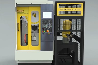 A photo of Methods Machine Tool's JobShop Cell Pro automation solution