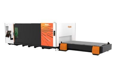 A press image of Mazak's Optiplex Nexus 3015 Fiber S7 laser cutter