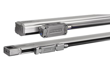 A press photo of the Renishaw Fortis enclosed linear absolute encoders
