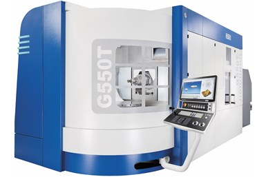 A press photo of Grob's G550T five-axis machine