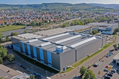 A photo of EMAG's headquarters in Salach, Germany