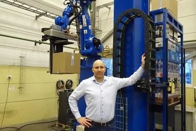 A photo of Lee Moulder, sales and application director at Yaskawa Nordic