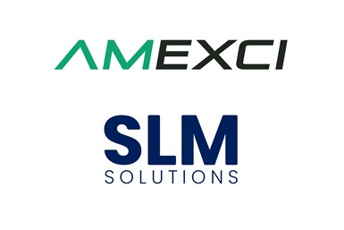 An image combining the logos of AMEXCI and SLM Solutions
