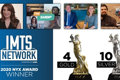 A press photo collage of the IMTS Network shows that won 2020 NYX Awards