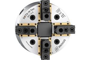 Schunk Rota-M Flex 2+2 Maximizes Mill-Turn Flexibility