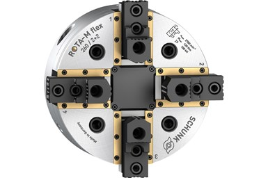 A press image of the Schunk Rota-M flex 2+2 chuck jaw