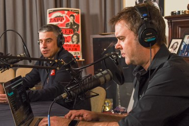 Peter Zelinski and Brent Donaldson in the podcast studio