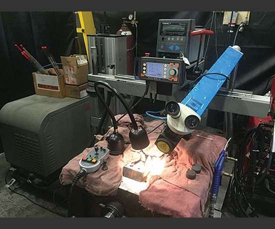 OR Laser's laser welding system provides flexibility and mobility