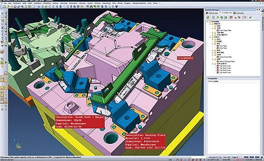 screen shot of CAD/CAM design software