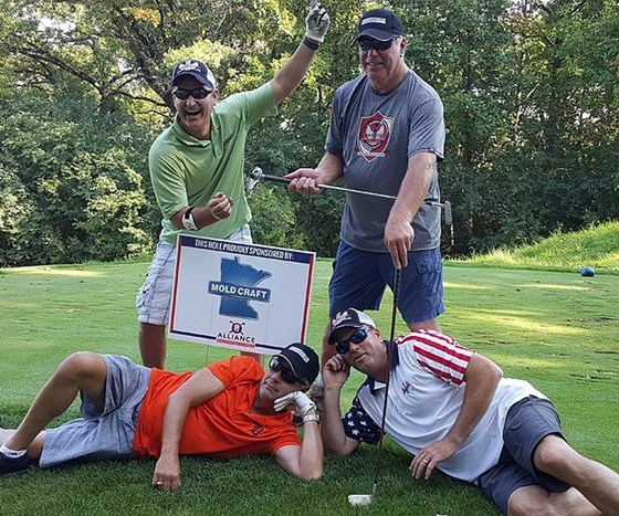 Participants in the first annual iWarriors golf outing fundraiser 2017