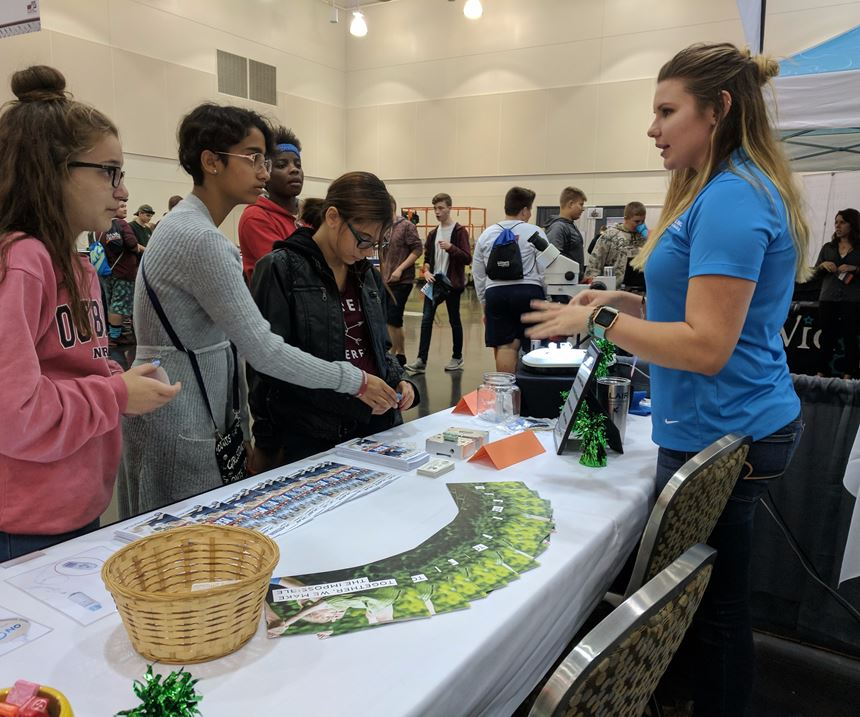Micro Mold and Plastikos sponsored and exhibited at a MFG Day career fair held in Erie, Pennsylvania.