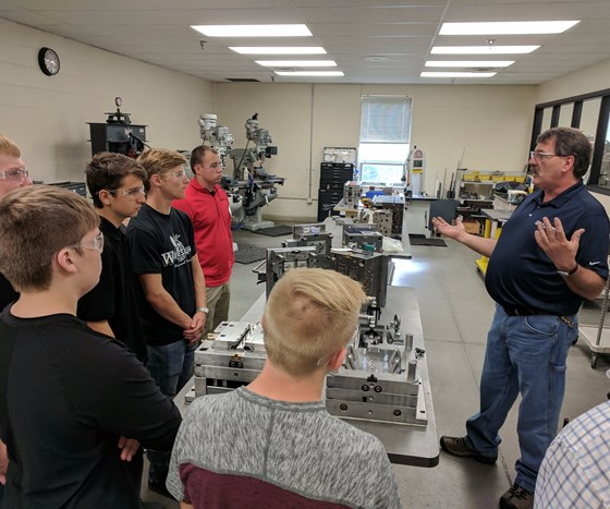 High School students learn about moldmaking at Micro Mold in Erie, Pennsylvania, on MFG Day 2017.