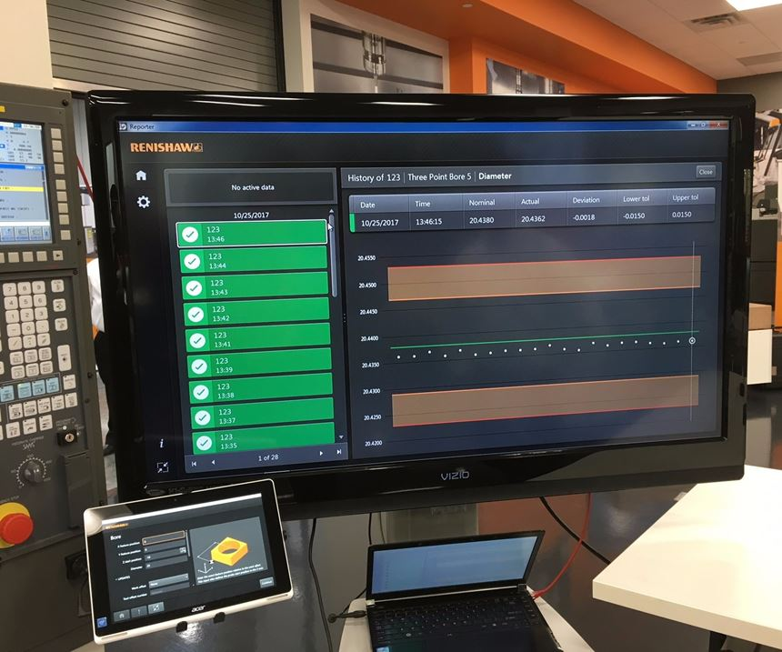 demo of Renishaw Inspection Plus software for CNC