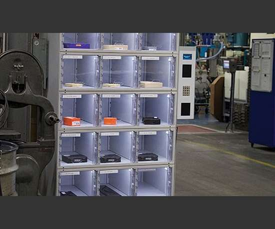 Lockers provide convenient, point-of-use access for any measurement tool needed in a given area within a mold manufacturing facility.