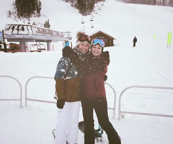 On the ski slopes